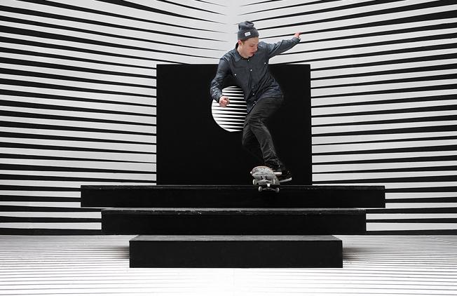 Kunstniku Robert Cuellar loodud rulaskulptuur. Foto www.creative.arte.tv