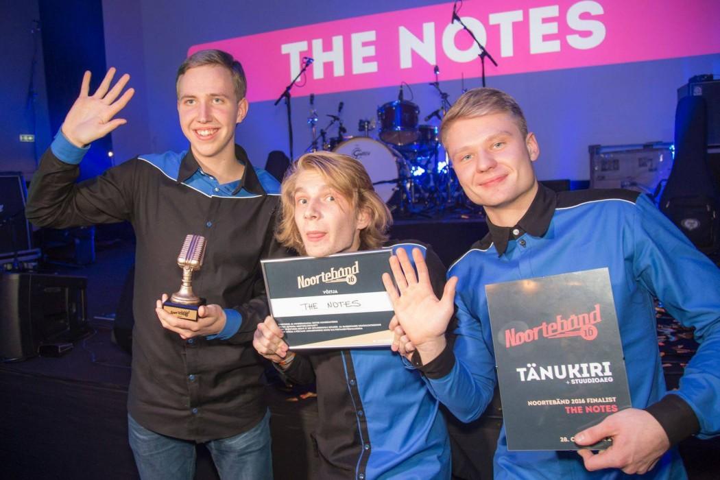 Noortebänd 2016 tiitli võitja The Notes. Foto autor: Toni Läänsalu
