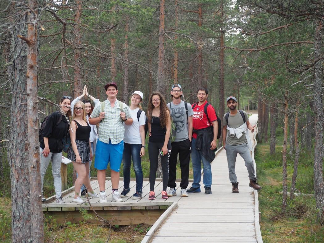 Noored välisvabatahtlikud Viru rabas Foto: erakogu