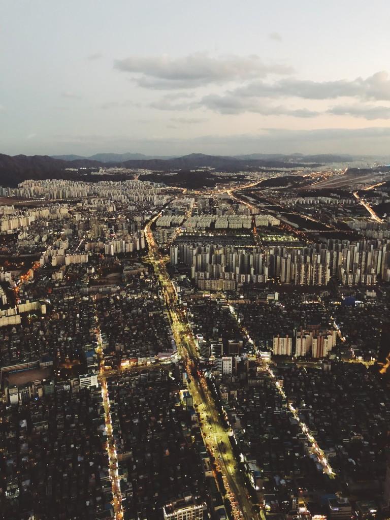 Seoul pildistatud Lotte Towerist